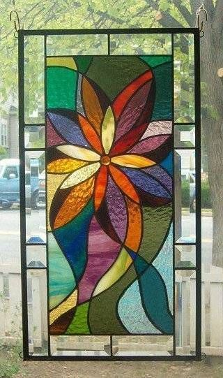 Shooting Star Stained Glass Window Panel