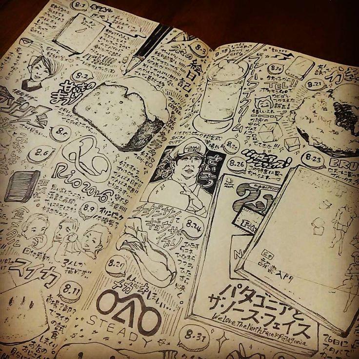 8月まとめページ。 手作り#マンスリー ?  食べ物のことばっかり。 最近ちゃんとした#メガネ がほしいなぁ...とか思ってる。  ねむいー色塗りはまたあとで。  #トラベラーズノート #travelersnote #travelersnotebook #diary #日記 #絵日記 #手帳 #手帳タイム #モノクロ #クラフト紙 #落書き  先日アップした結婚式招待状の画像を一回消しまーす。 コメントいただいた方々ごめんなさい(´;ω;`)