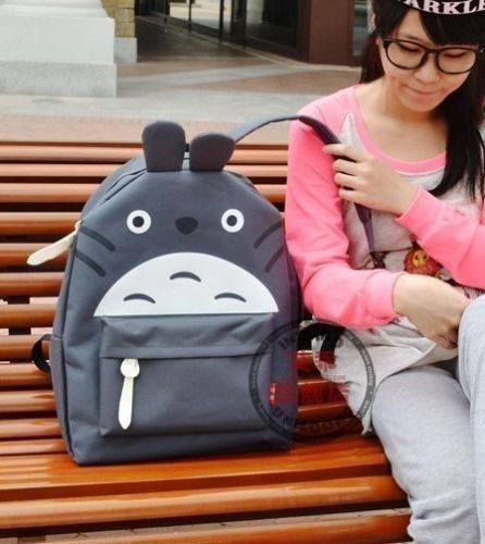 NEW-Gray-My-Neighbor-Totoro-School-Backpack-Totoro-Bag-Free-shipping