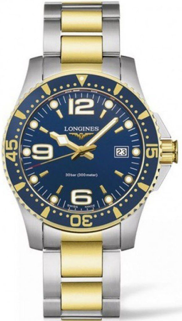 @longineswatches HydroConquest Mens #add-content #bezel-unidirectional #bracelet-strap-gold #brand-longines #case-material-steel #case-width-41mm #date-yes #delivery-timescale-1-2-weeks #dial-colour-blue #gender-mens #l37403967 #luxury #movement-quartz-battery #new-product-yes #official-stockist-for-longines-watches #packaging-longines-watch-packaging #style-dress #subcat-hydroconquest #supplier-model-no-l3-740-3-96-7 #warranty-longines-official-2-year-guarantee #water-resistant-300m