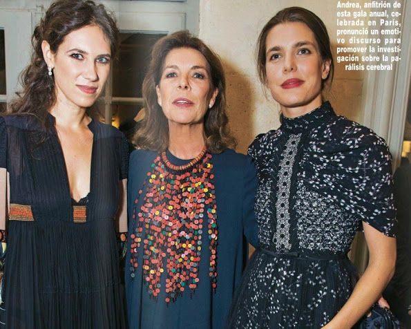 Princess Caroline, Charlotte Casiraghi, Andrea Casiraghi, Tatiana Santo Domingo attended a charity dinner
