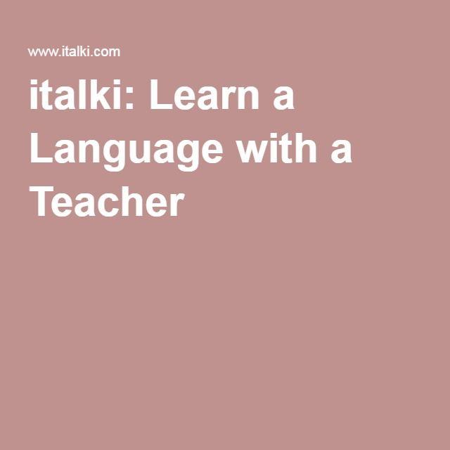 italki: Learn a Language with a Teacher
