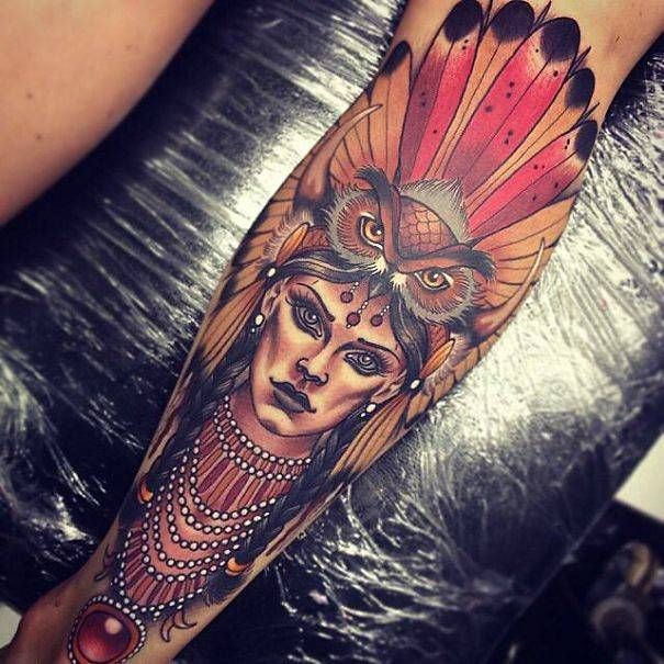 9. Neo-Traditional spirit warrior | These Are The 19 Most Incredible Tattoos Ive Ever Seen