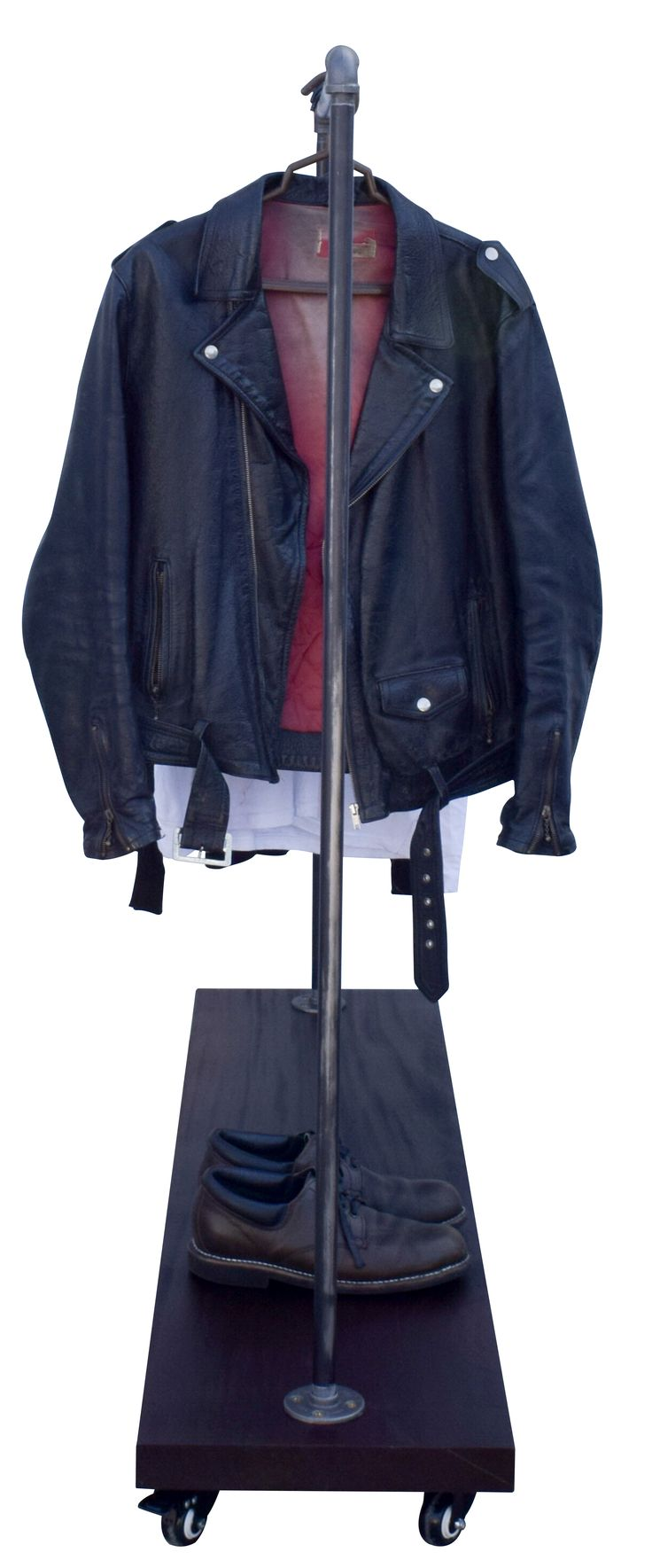 """Industrial Pipe Clothing Garment Rack by DIY Cartel - 48"""" x 48"""" x 48"""" ~ Great for Clothing, Jackets, Retail & Boutique Stores, Markets and Home Storage  Hardware ONLY from AMAZON.COM"""