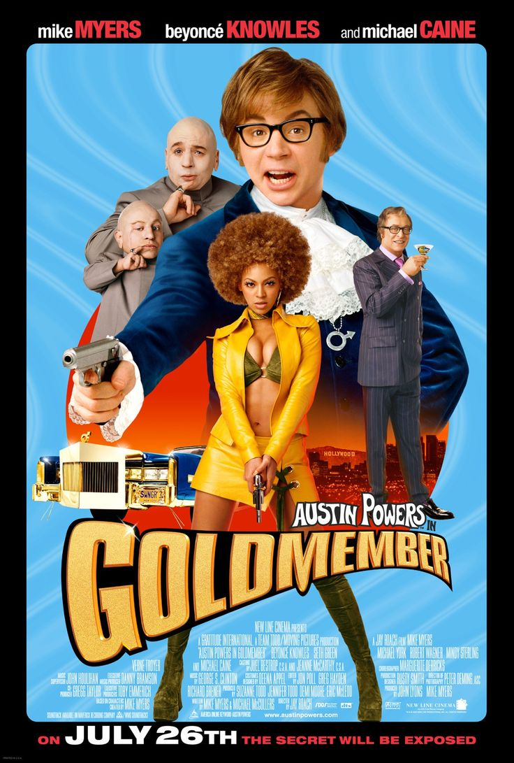 AUSTIN POWERS GOLDMEMBER #MikeMyers #BeyoncéKnowles #RobertWagner #SethGreen #MichaelYork #VerneTroyer #MindySterling #MichaelCaine