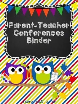 Guest Post by Inspired Owl with Parent-Teacher Conferences Binder FREEBIE - so adorable, helpful, and FREE!