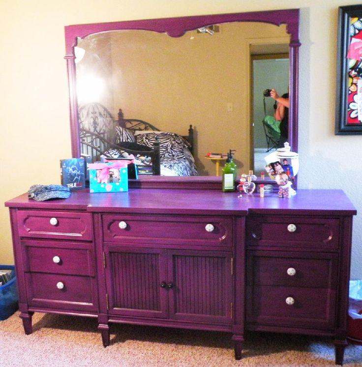 purple dresser | purple dresser $ 675 00 sold perfectly purple dresser with a black ...
