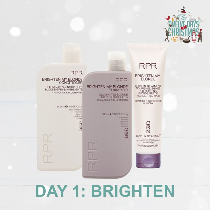 DAY 1: BRIGHTEN. Brighten up someones life this Christmas with our RPR Brighten My Blonde hair care range. Ideal for anyone with blonde, grey or highlighted hair.