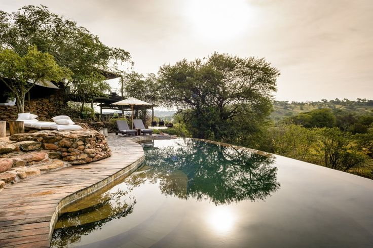 There are two pools at the main lodge area at Singita Faru Faru Lodge as well as a private infinity pool at the lodge's private villa suite.