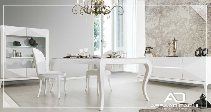 Violet Dinning Room- Elegance in White   Visit us now and check the full collection