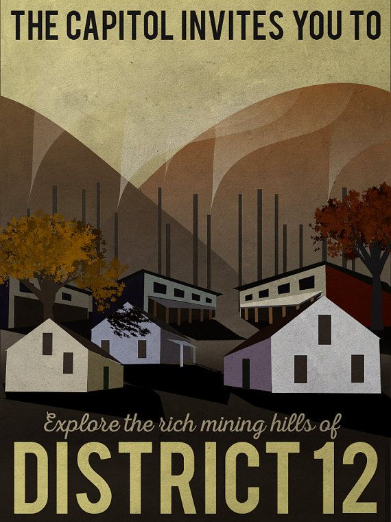 Ever want to travel to the hills of beautiful District 12? This poster shows what the mining district would look like in the fall.  * * *  Welcome to the land of Cantabrigia. Before placing your order, please read the information below.  This is a digital file. In other words, you will not receive a physical print.  This is my work, so please only use it for personal uses. Feel free to print as many as you like, and give it to whoever you like. But don't resell it. You will receive: Instant…