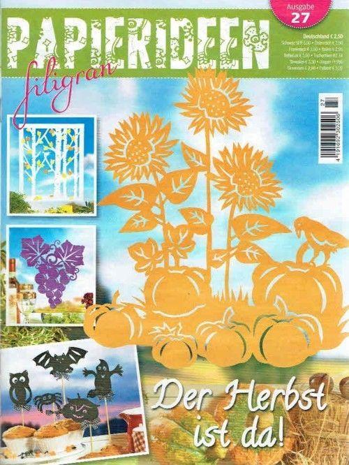 PAPIERIDEEN filigran 27/2016 KREATIV in den Herbst  - der Herbst ist da! • EUR…
