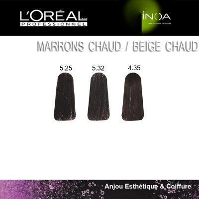 marrons chauds les marrons en produits coloration sans sans ammoniaque beaut les beiges inoa html - Coloration Sans Ammoniaque Inoa