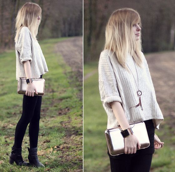 Metallic items (by Jana Spaceman) http://lookbook.nu/look/3330709-metallic-items