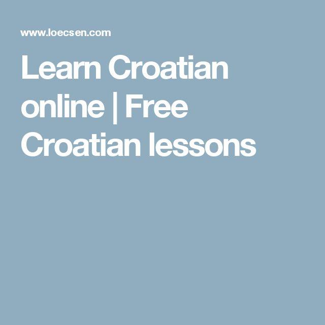 Learn Croatian online | Free Croatian lessons