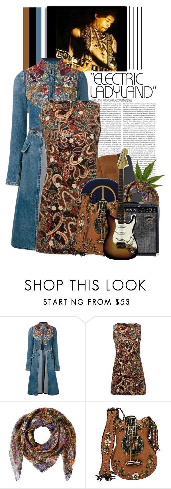 """""""Electric Ladyland (The Jimi Hendrix Experience)"""" by jleigh329 ❤ liked on Polyvore featuring Alexander McQueen, Etro, Emilio Pucci and Mary Frances Accessories"""