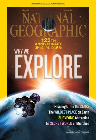 National Geographic magazine, informative with great photography.