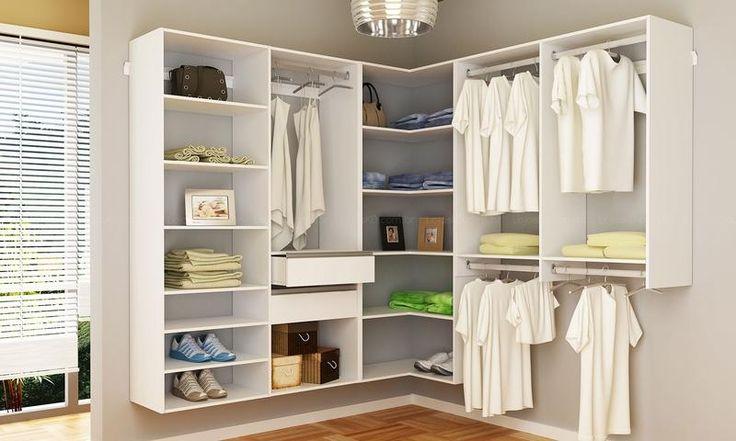 Armário modulado super closet Sem Portas Branco - Getama
