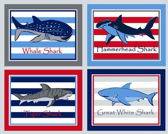 shark bathroom art Shark art prints blue RED by theprincessandpea. The 25  best Shark bathroom ideas on Pinterest   Shark room  Shark