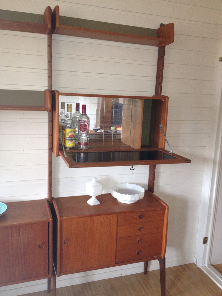"Blindheim Møbelfabrikk ""ERGO"", teak, Norway 1965, with liqour cabinet - bought 090513 4000kr (three sections)"