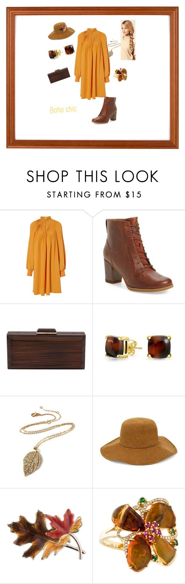 """""""Untitled #280"""" by constance-dangerfield on Polyvore featuring TIBI, Timberland, Inge Christopher, Bling Jewelry, Amrita Singh, Chico's, Anne Klein and Hershesons"""