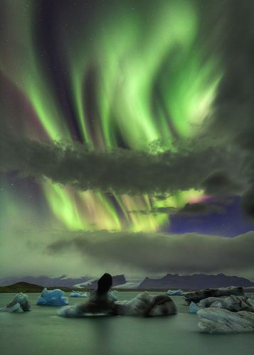Jökulsarlon Aurora.I want to go see this place one day.Please check out my website thanks. www.photopix.co.nz