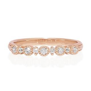"""Hatae jewelry """"Helena"""" K18PG jewelry diamond ring"""
