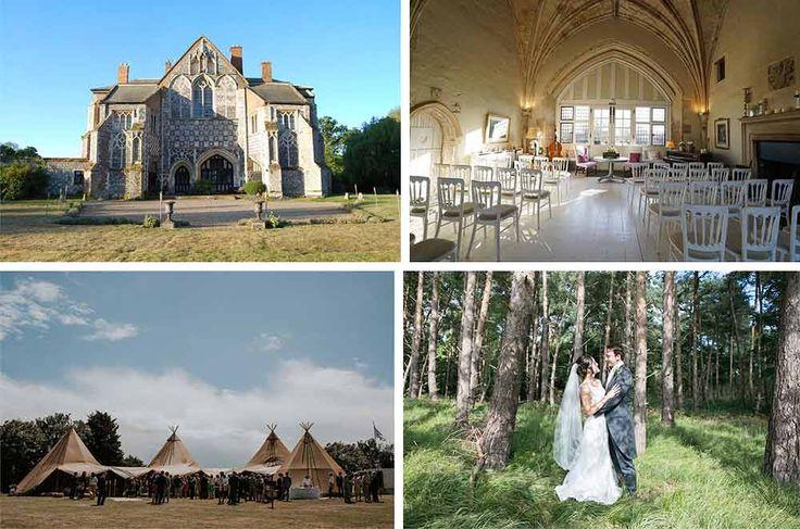 butley priory autumn wedding venue