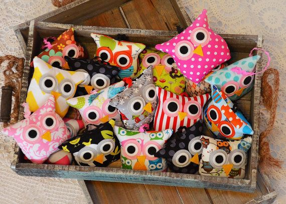 10 Custom Owl Birthday Party Favors/ Christmas Ornament/ Baby Shower /Banner/ owl pillow / Party / Mini Itty Bitty /Nursery Decor on Etsy, $120.00