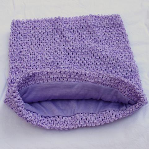 Lavender crochet tutu top - Lavender tutu top lined - crochet top - waffle crochet top