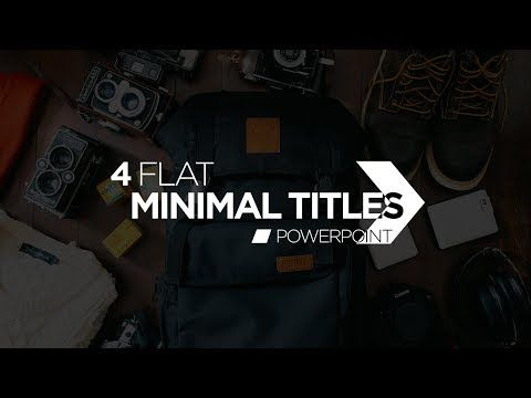 Flat Minimalist Titles in PowerPoint  - Motion Graphics and Kinetic Typography Tutorial - YouTube