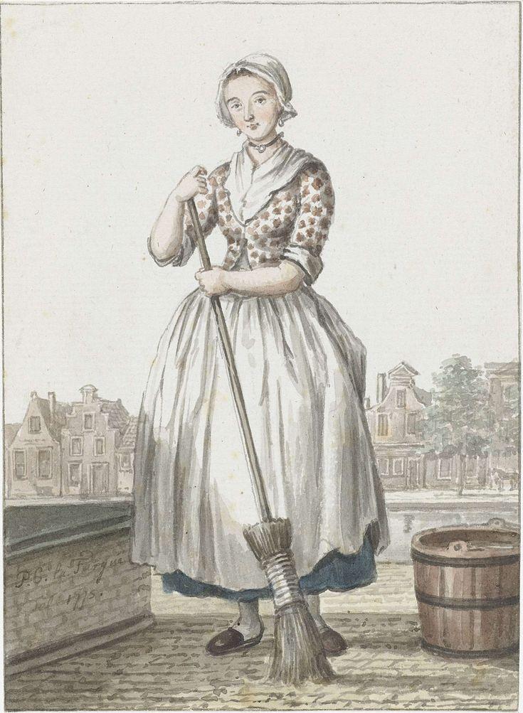 Haags dienstmeisje, Paulus Constantijn la Fargue, 1775