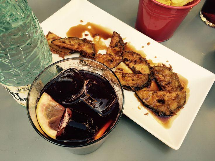 Vermouth en Courgette met soya saus #tapas #vermouth