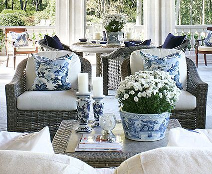 Blue And White Decor It Never Gets Old