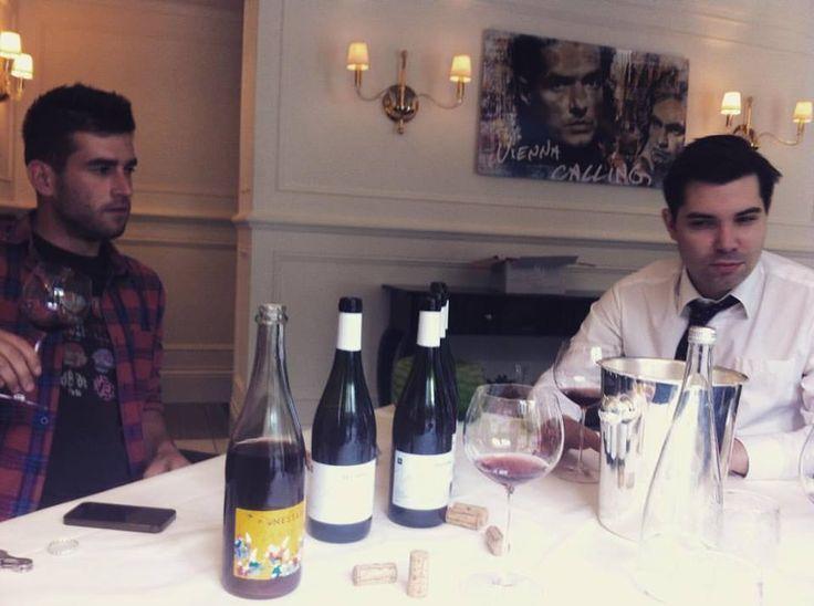 Prezentujeme vína Milana Nestarce ve Vídni. Domluveno: Po skleničce v michelinske restauraci hotelu Kampinsky.