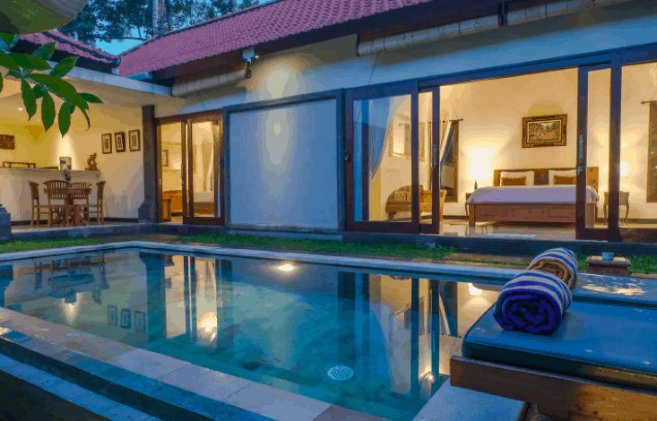 12 Cheap Monthly Villa Rentals In Bali With Private Pools Happily Ever Travels In 2020 Bali Bali Accommodation Hotel