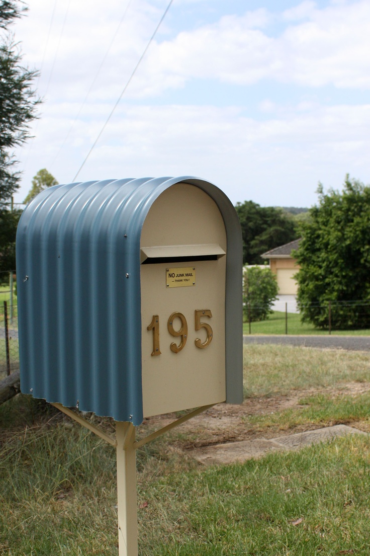 Mailbox -- Australian Letter Box in curved corrugated iron.