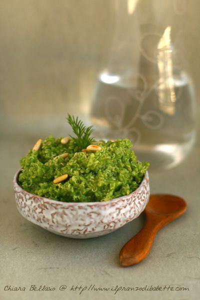 Quinoa con broccoli, pinoli e zenzero