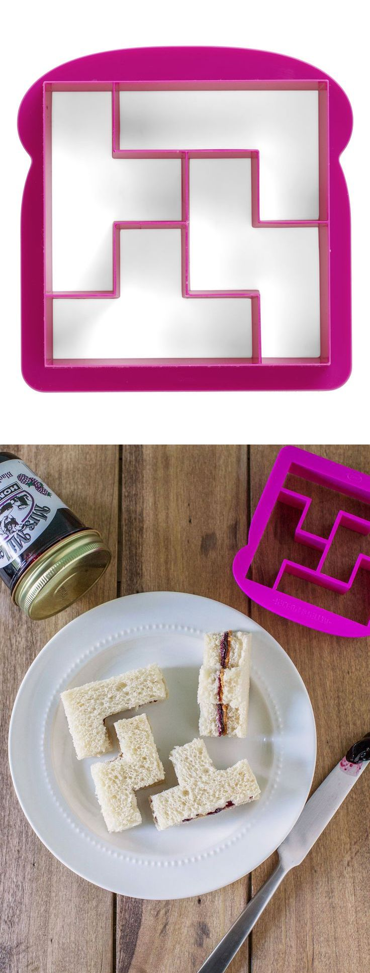 Tetris sandwich cutter - AWESOME! #product_design