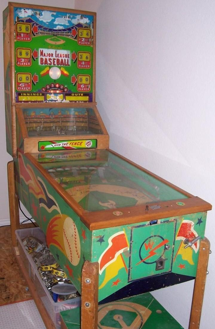 1954 Williams Major League Baseball Pinball Arcade Game