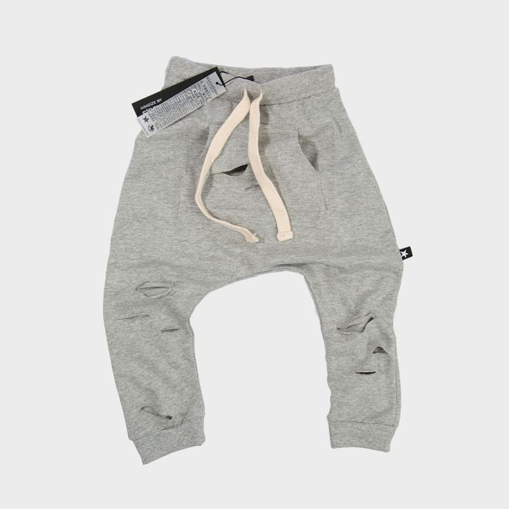 Kids' grey ripped harem pants