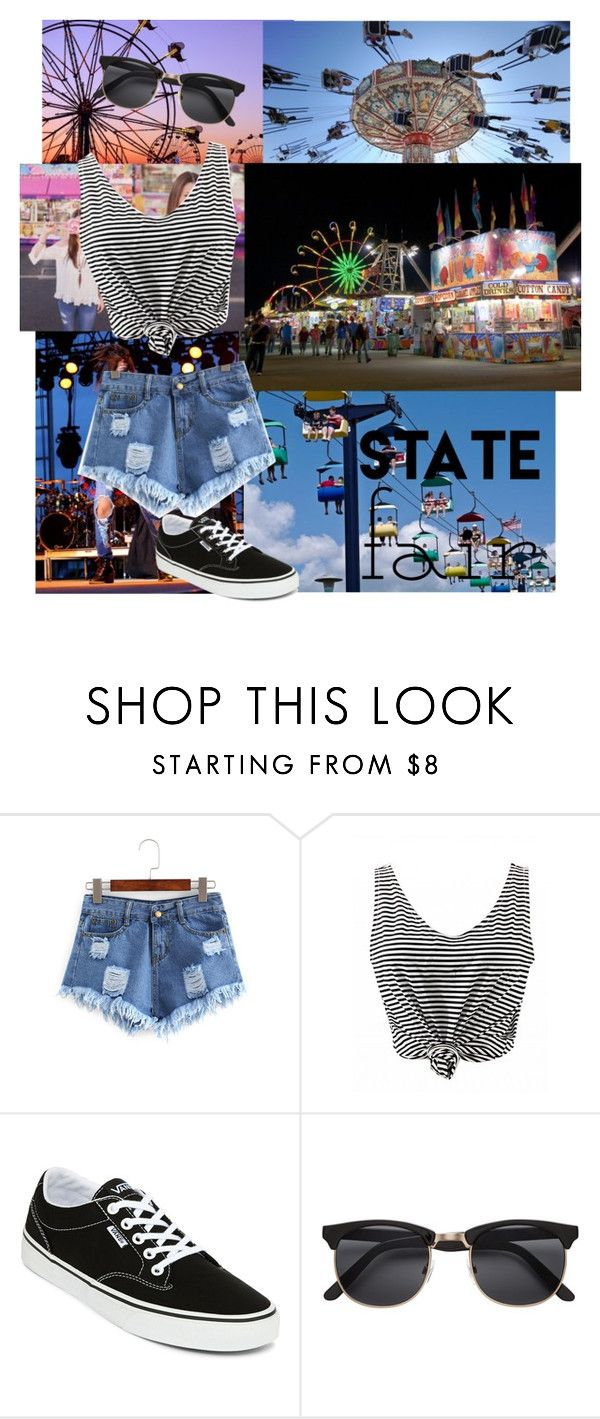 """State Fair Date"" by basicallyalyssa ❤ liked on Polyvore featuring Vans, cute, outfit, like, statefair and summerdate"