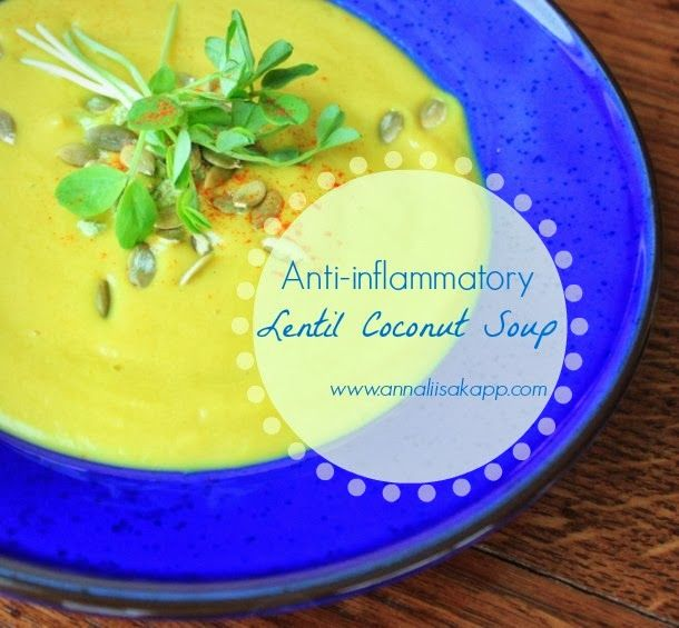 Anti-inflammatory Detox Friendly Lentil Coconut Soup Recipe