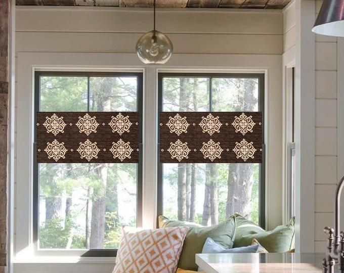 Modern Valances In The Roman Shade Style By Monagstudio On Etsy Modern Valances Modern Window Treatments Roman Shades