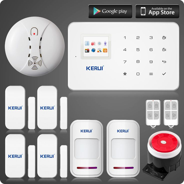 KERUI G18 wireless zones app control GSM alarm system with touch screen TFT color display home alarm system PIR Motion Senson  #alarm #GPS #tracking #found #lost #cctv #stolen #security #safe #dashcam