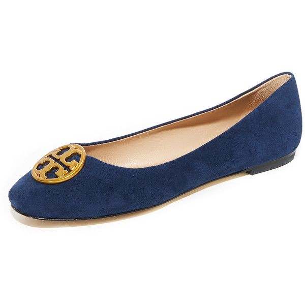 Tory Burch Chelsea Ballet Flats ($250) ❤ liked on Polyvore featuring shoes,  flats