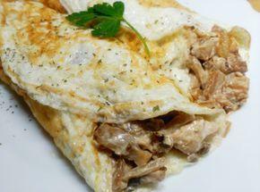 Recetas Fitness Fáciles: Tortillitas de claras rellenas de pavo y champis (sin carbos)