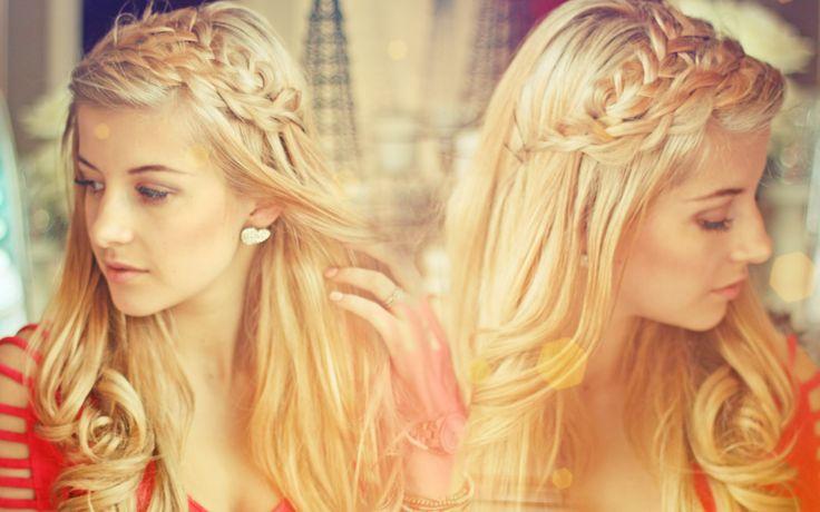 Double loop braids with loose curls