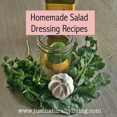 Store bought salad dressings contain all kinds of hidden ingredients so I like to make my own. Here are some homemade salad dressing recipes I use.