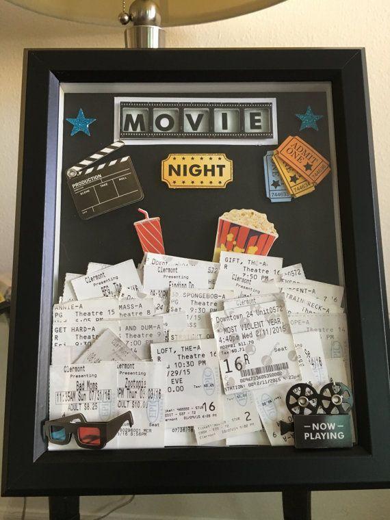 Movie Ticket Storage Shadow Box by ThatsTotallyTara on Etsy
